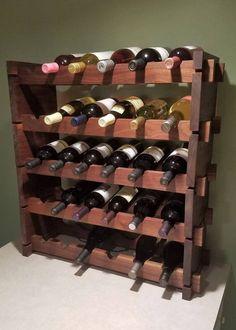 Items similar to Wine Rack / Walnut Wine Rack / Adjustable Wine Rack / Handmade Wine Rack on Etsy Wine Rack Design, Wine Bottle Design, Wine Bottle Rack, Wine Bottles, Wine Rack Inspiration, Stackable Wine Racks, Buy Wine Online, Wood Wine Racks, Expensive Wine