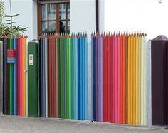 好可愛的鉛筆圍籬!^艸^