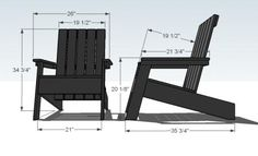 West Elm style Adirondack Chair