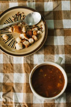 Lentil Soup:  If you haven't tried soup-making yet, you should as the weather cools down. It's really easy and it can feed a lot of people at a time. This is our most basic, yet really flavorful hearty lentil...