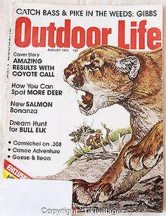 Outdoor Life August 1975 Bass Pike Coyote Call Deer Salmon Bull Elk 308 | eBay