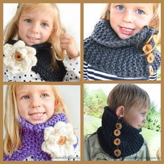 Knitting pattern Scarf with crochet flower. by daisiescrochet