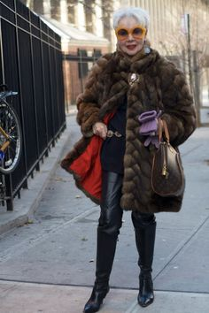 A good fur (real or faux) lasts forever. | 18 Fabulous Style Tips From Senior Citizens