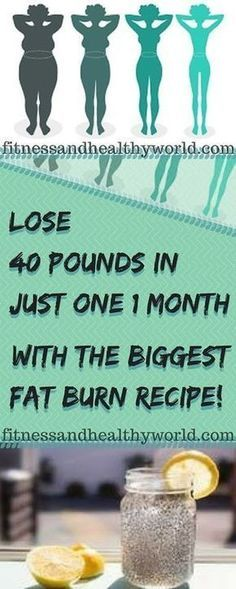 Lose 40 Pounds In Just 1 Month With The Biggest Fat Burn Recipe - sitejackpot Loose Weight, How To Lose Weight Fast, Lose Fat, Brenda Garcia, Belly Fat Burner Workout, Fat Workout, Month Workout, Lose 40 Pounds, Health And Fitness