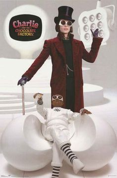 A great Charlie and the Chocolate Factory movie poster! Johnny Depp is Willy Wonka in Tim Burton's adaptation of Roald Dahl's classic children's book! Published in 2005. Fully licensed. Ships fast. 22