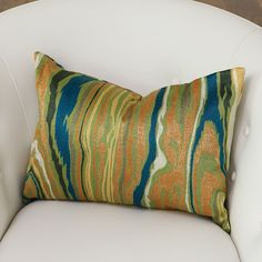 Global Views Wood Grain Pillow Cool