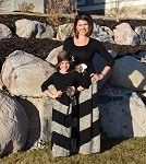 Maxi Dress Mommy - Black w/Leopard only $18.99 at www.gabskia.com also like us on facebook  https://www.facebook.com/gabskiaccessories