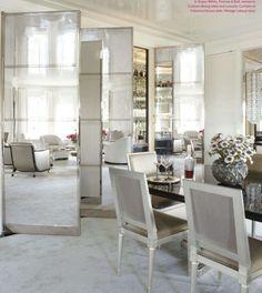 love the mirrored cabinet doors VICTORIA HAGAN