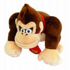 Peluche sous licence officielle NINTENDO Donkey Kong , le grand singe le plus célèbre du jeu vidéo  ! Taille  : 24 cm