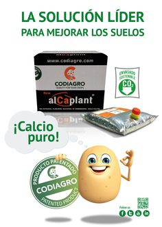 Tu especialista en CALCIO ahora también en #patata. ALCAPLANT NEW® se comercializa con la marca MAGNIFIC Ca FLOW® en Chile y Perú.