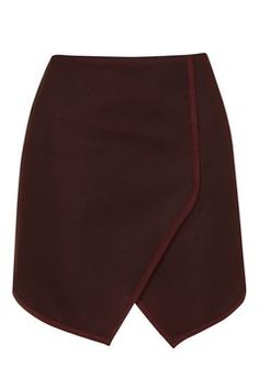 Angled Wrap Airtex Mini Skirt