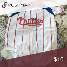 Phillies onesie In great condition. Minimal ware. Smoke free home Adidas One Pieces Bodysuits