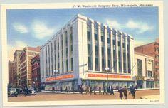 Minneapolis Minnesota Woolworth Company Store 1940s Postcard