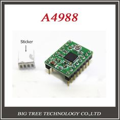[Visit to Buy] 5pcs 3D printer Bigtree4988 stepper motor drive Stepstick MAX2A with heat sink compatible with A4988 support MAX 128 micro step #Advertisement