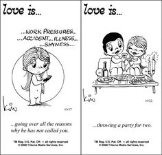 "Love Is Cartoons By Kim | 50 Cute ""Love Is"" Comics by Kim Casali 