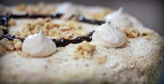 Snehová torta - Receptik.sk Feta, Camembert Cheese, Dairy, Cupcakes, Pastries, Youtube, Cupcake Cakes, Tarts, Youtubers