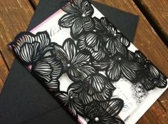 Laser Cut Black Flowers - Purchase to start ordering process