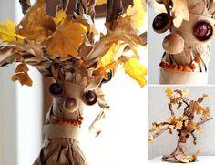 Осенние поделки: дерево из осенних листьев - Полезные заметки обо всем