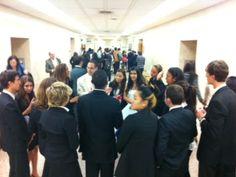 Hollywood High School Mock Trial Team prepares with Coach Paul Landau and Attorney Coach Ms. Crenshaw.