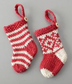 Knitted ornament stockings