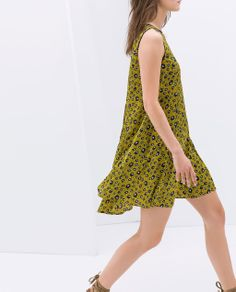 ZARA - NEW THIS WEEK - PRINTED DRESS WITH BUTTONED BACK