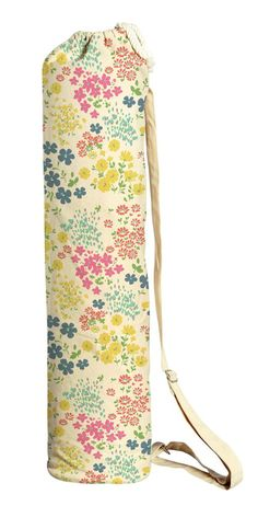 Yoga mat bag handmade in deep rich red and gold fabric Includes adjustable strap /& pocket.