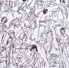 Mod Francie concept fashion sketches, Mattel 1966