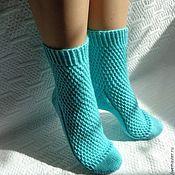 Теплые носочки-сапожки-гольфы из итальянского мериноса DZINTARS – купить или заказать в интернет-магазине на Ярмарке Мастеров | Дзинтарс – это по-латышски янтарь))<br /> Слезки…