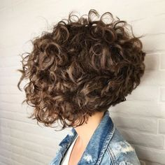 Trying to update your bob haircut for curly hair? You'll want to see our list of beautiful curly bob ideas to find the right one for you. Long Curly Bob, Curly Angled Bobs, Short Wavy Haircuts, Bob Haircut Curly, Haircuts For Curly Hair, Curly Hair Tips, Short Hair Cuts, Curly Hair Styles, Short Layered Curly Hair