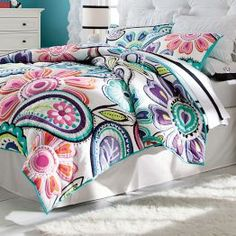 Teen Girls Bedding, Teen Bedding for Girls | PBteen-- don't care if its for teens, if that was a duvet cover I would own it!