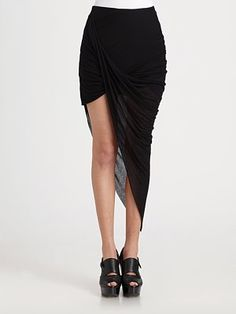 Helmut Lang Asymmetric Skirt- this skirt looks awesome on!