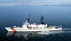USCGC Midgett (WHEC 726) in the Strait of Juan de Fuca.