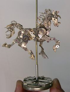 watch parts/carousel horse | microwalrus:  (via Colossal | A blog about art and visual ingenuity.)