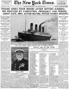 Titanic newspaper article