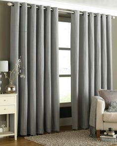 Tobago  Eyelet Curtains Silver