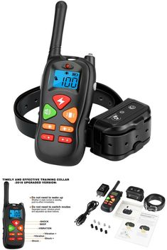 Dog Training Collar, Remote Pet Dog Shock Collar with Beep, 100 Level Shock/Vibration Collars - Waterproof & Rechargeable - Best Electric No Bark Dog Training Tools, Dog Shock Collar, Pet Dogs, Pets, Training Collar, Collars, Remote, Electric, Necklaces