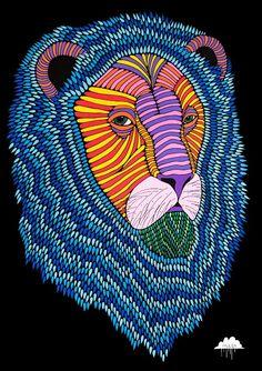 Raimondo the Rainbow Lion by Mulga the Artist-web