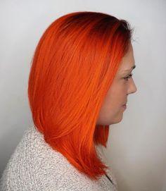 orange frisuren mittellang 2017