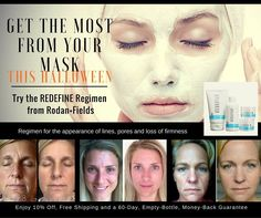 """Get your """"ghoul"""" on this week, but get your """"glow"""" on all year with a clinically proven skin care Regimen from Rodan + Fields. Check out these before and after pics of my friends Tammy, Aubrey and Joy! They each used the REDEFINE Regimen with gorgeous results! If it's not for you, simply return your empty bottles within 60 days for a full refund. Message me today! #notricks #alltreats #bestskinofyourlife #beauty #halloween #fitness #aging #teacher #Nurses #wrinkles https://ap"""