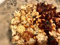 Roasted Cauliflower with Pine Nuts, Dates, Thyme, Roasted Cauliflower with Dates Pine Nuts — Foraged Dish, cauli. Easy Vegetable Side Dishes, Vegetable Sides, Vegetarian Entrees, Roasted Cauliflower, Thanksgiving Recipes, Dates, Cabbage, Pine, Snack Recipes