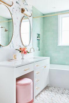 Bathroom Styling, Bathroom Interior Design, Bathroom Designs, Bathroom Inspiration, Home Decor Inspiration, Decor Ideas, Fireclay Tile, Cheap Home Decor, Home Remodeling