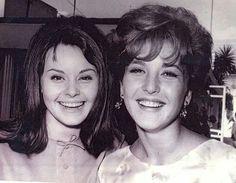 Rocío Durcal & Angélica María 1964 cuando Rocío llegó a Mexico por primera vez.