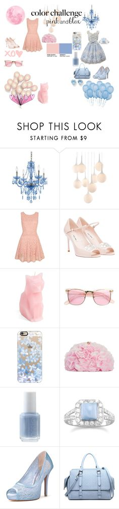 PInk and blue color challenge by nightmare-demon-wolf on Polyvore featuring Yumi, Miu Miu, Betsey Johnson, Kevin Jewelers, Casetify, Essie, AF Lighting, PyroPet, Zuo and women's clothing
