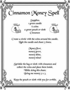 Cinnamon Money Spell {Printable Spell Page} | Witches Of The Craft®