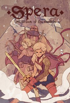 """Mathilde Kitteh's cover for Atelier-Sento's chapter of Josh Tierney's """"Spera: Ascension of the Starless""""."""