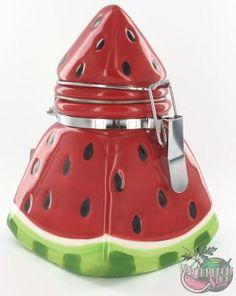 Picnic Party Watermelon Hinged Jar