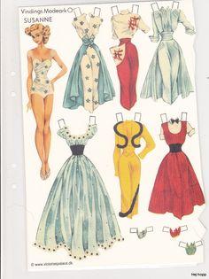 """Susanne, Gerda Vinding paper doll Model """"O"""" (2 of 3) / Gerda Vinding, Danish artist, 1921-1987"""