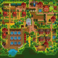 Isabelle Farm, Summer As done as it'll ever be :p Stardew Farms, Stardew Valley Farms, Game Boy, Stardew Valley Tips, Stardew Valley Layout, Minecraft Farm, Farm Layout, Farm Plans, Animal Crossing Villagers