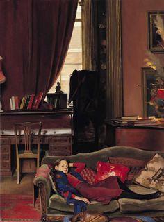 Nelson Shanks (American, b.1937)  33 Tite Sreet. Oil on canvas.