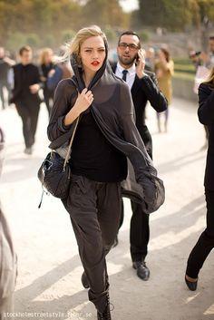 Sasha Pivovarova ❤️❤️ she has the coolest off-duty looks